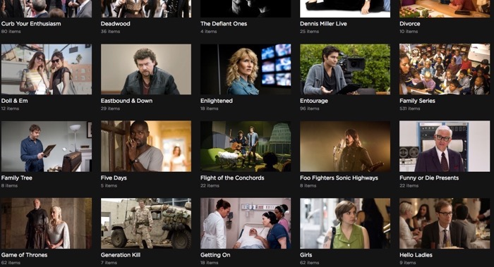 HBO Series on HBO Go are far more complete than cable on demand