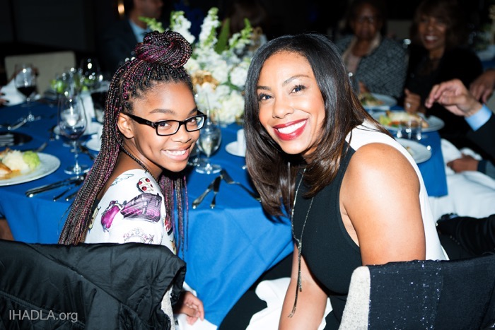 The lovable Marsai Martin with Jamila Hunter at IHADLA Dreamer Dinner gala