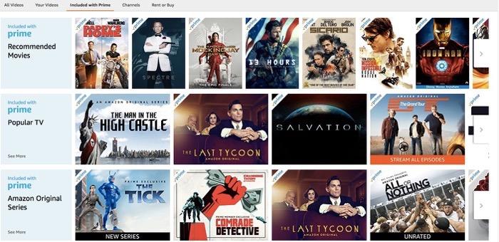 Amazon Prime Video list part 1