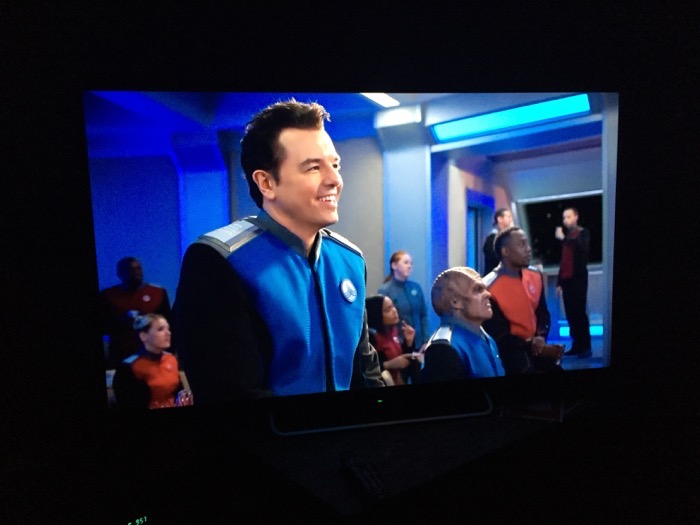 Seth MacFarlane creator, producer, writer and star of The Orville. From karaoke scene in episode 9.