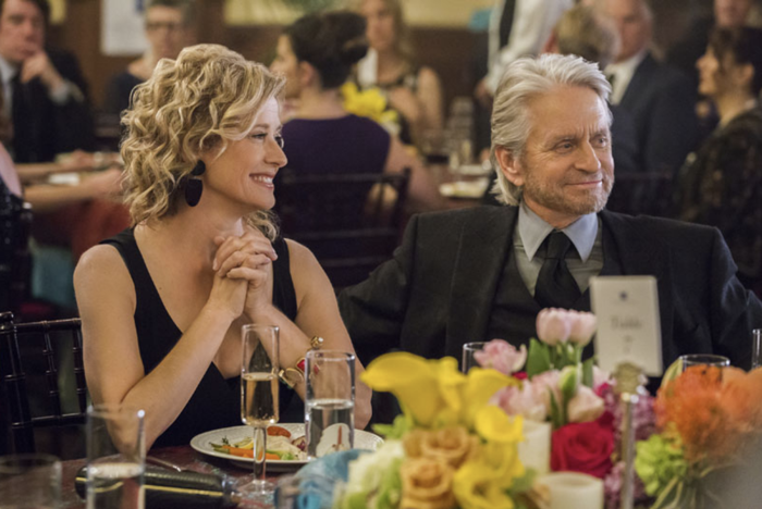 Kominsky Method. Nancy Travis and Michael Douglas